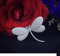 Wholesale dragonfly sterling jewelry resale online - The Shapes Dragonfly Ring of Sterling Silver with the Moving Dragonfly Ring with Moving Wings with Color Stone Wedding Jewelry For Party