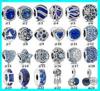 Wholesale lampwork glass heart pendant for sale - Group buy Pandora Beads DIY colorful Opal Charms fit for Bracelet Pendant Fits Original Pandora Charms Bracelet for Women DIY Jewelry Making CNY2219