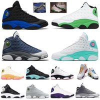 зелёная змеиная обувь мужчины оптовых-Nike air jordan retro 13 Flint Bred Chicago Reverse He Got Game Aurora Green Playground Men Basketball Shoes 13s Hyper Royal Snakeskin Jordan sneakers