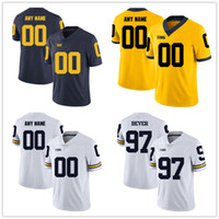 Wholesale college football jersey youth resale online - Custom Michigan Wolverines College any name number embroidery Football Stitched Jersey Youth women s Mens Size S XL