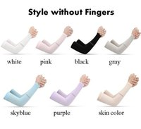 Wholesale gloves for sports for sale - Group buy Outdoor Sports Ice Silk Sleeve Ice Cool Breathing Sunscreen Sleeve Summer Gloves for Men Women Riding Training Arm Warmers