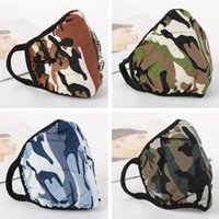 Wholesale mask wind protection resale online - In Stock Cool Camouflage Layer Cotton Elastic Mask Simple Thin Outdoor Dust and Wind Protection Masks Wash and Reuse Face Shield Free DHL