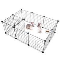 Wholesale rabbits cages resale online - Pet fence Teddy dog cage medium sized small dog cage railing fence fence isolation door indoor cat cage rabbit cages