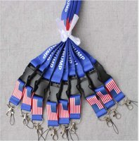 Wholesale moble phones online – Trump Removable The United States Flag Key Chains Badge Pendant Party Gift Moble Phone Lanyard Neck Strap Accessories DDA283