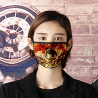 Wholesale giant masks resale online - Attack giant windproof dust proof haze proof printing washable water resistant cotton gauze mask