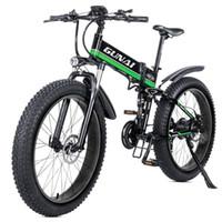 Wholesale gear hydraulic resale online - GUNAI Electric Bike W v12 AH Hydraulic Disc Brake Speed Gear Mountain Bike for Beach and Snow