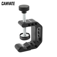 CAMVATE Universal C-Clamp Aluminum Support Clamp Desktop Mount Holder Stand with 1 4inch-20 & 3 8inch -16 Metal Female Socket