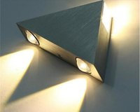 Led Wall Lamp 3W Aluminum Body Triangle Wall Light For Bedroom Home Lighting Luminaire Bathroom Light Fixture Wall Sconce