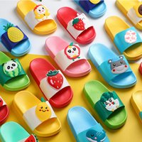 Wholesale shoes for children cartoon resale online - Cute Summer Kids Slippers for Boys Girls Shoes Cartoon Fruits Beach Sandals Slippers Flat Soft Sole PVC Children Shoes Slides