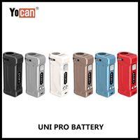 Wholesale Yocan UNI Pro Box Mod With mah Voltage Adjustable Vape Ecigs Battery For Magnetic thread Vaporizer Atomizer Authentic dhz pPbUnk