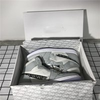Wholesale ups labels for sale - Group buy With box Officially revealed anniversary collaboration Grey White French fashion style label Kim Jones Sneaker shoe size36 bb