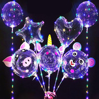 20 inch BOBO Balloon led light Multicolor Luminous 70cm Pole 3M 30LEDs Night Lighting for Party Balloon Wedding Holiday Decoration