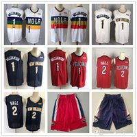 Wholesale zion williamson jersey resale online - Mens New Orleans Pelicans Throwback jersey Zion Williamson Lonzo Ball Basketball Shorts Basketball Jerseys Purple White Red