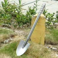 Wholesale emergency shovel for sale - Group buy 60cm Fully Stainless Steel Garden Shovel High Quality Durable Outdoor Explore Camping Spade Emergency Survival Hand Tools
