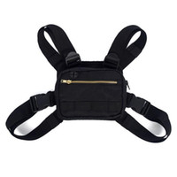 Wholesale mens hip pack for sale - Group buy Motion Outdoors Waist Bags Chest Backpacks Compact Mens Bag Men Chest Pack Rig Hip Hop Streetwear Black hd E2