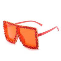 Wholesale mirrors italian for sale - Group buy Crystal Square Sunglasses Likeus Luxury Italian Brand Sunglasses Women Crystal Square Sunglasses Mirror Retro Full Star Sun bwkf CJaBA