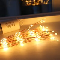 Wholesale battery operated led holiday lights for sale - Group buy Firework LED Copper String Light Bouquet Shape LED String Lights Battery Operated Decorative Lights With Remote Control For Wedding Parties