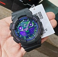 Wholesale g watch military for sale - Group buy New Arrival Man Male G Style Sport Watches Purple Blue Two tone Strap Shock Military LED Wristwatches Luxury Mens Auto Date Alarm Watch