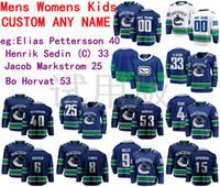 Wholesale henrik sedin jersey for sale - Group buy Vancouver Canucks Jersey Elias Pettersson Jersey Henrik Sedin Jacob Markstrom Bo Horvat Men Blue White Hockey Jerseys Custom Stitched