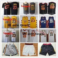 Wholesale jersey cavaliers for sale - Group buy Retro Men Cleveland Cavaliers Throwback jerseys LeBron James Basketball Shorts Basketball Jerseys yellow red white blue grey