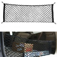 Wholesale car trunk net resale online - Universal Car Back Rear Trunk Seat Elastic String Net Magic Sticker Mesh Storage Bag Pocket Cage Auto Organizer Seat Back Bag