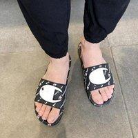 Wholesale champion slipper for sale - Group buy Champion Women Designer Sandals Summer Men Brand Flip Flops unisex Slippers Mules Slip On Flat Sandal Beach Rain Bath Shoes A52000