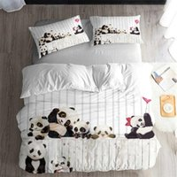 jugendlich geschenke groihandel-Cute Panda Bedding Set Bedroom Decor Hypoallergenic Quilt Cover Kids Teens Gifts Bedspreads 1PC Duvet Cover with Pillowcase