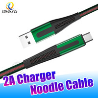 micro 2021 - 2020 Newest Data Sync Cable Micro USB Type C Cable Flat Noodle USB Charging Cord 3FT Nylon Braided Charger for Galaxy S20 izeso