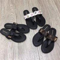 Wholesale slipper shoes for ladies resale online - G Casual Shoes Flip Flops for men and women Slippers Gu cci Leather Flat Heel Ladies L V Louìs Vuìtton Sliders Sandals guccì
