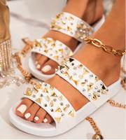 Wholesale flip flop nails resale online - 2020 Women shoes sandals indoor house designer funny Slippers nail shoes slipper shoes beach flip flops for women loafers Surprise price