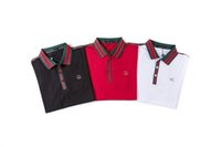 Wholesale mens golf polo shirt xl resale online - New Summer Polos Fashion Embroidery Mens Polo Shirts High Quality T Shirt Men Women High Street Casual Top Tee High Quality