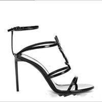 Wholesale unique summer sandals for sale - Group buy 2019 Top Quality Style Leather Stiletto Stiletto summer sandal Women Black S Unique Alphabet Flip Flop Sandals Wedding Dress Shoes Sexy Shoe