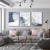 line art wall painting 2021 - Morden Canvas Painting watercolor line Prints Art Posters Prints Abstract Art Wall Ink painting Pictures Living Room Home Decor