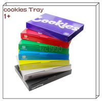 Wholesale designer logos resale online - Hot style runty LED light emitting cigarette tray cookies custom Logo multi color rolling tray freeshiping