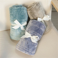 Wholesale textile blankets for sale - Group buy Flannel Baby Blankets Sofa Covering Leg Throw Blanket Air Conditioned Room Soft Warm Home Textiles Outdoor Camping Articles dq D2