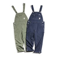 Wholesale work bibs resale online - 2020 New Casual Vintage Bib Overalls Tooling Jumpsuit Loose Fit Working Overall With Multiple Pockets New