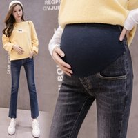 Wholesale maternity jeans resale online - Jeans Maternity Pants For Pregnant Women Trousers High Waist Straight Jeans Pregnancy Pants Maternity Clothes Autumn New