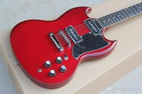 Wholesale binding guitar red for sale - Group buy Red Electric Guitar with Pickups Rosewood Fretboard Mirror Pickguard Dots Inlay Neck Binding offering customized services