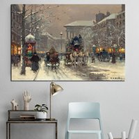 Wholesale paris street paintings for sale - Group buy Paris Street Scene By Edouard Snow The Emerald City Poster Painting on Canvas Bedroom Wall Art Decoration Pictures Home Decor