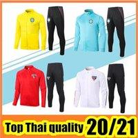 Wholesale grey jogging suit resale online - 2020 Sao paulo soccer jacket Survetement Sao paulo training suits jogging football TRACKSUIT top quality chandal