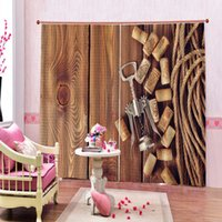 Wholesale house opener resale online - Photo Customized D Curtain Countryside Bucolic Rural House Folk Vintage Bottle opener For restaurant Hotel Window Drapes Decor Sets
