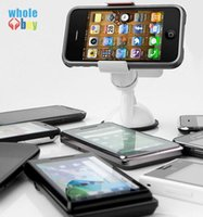 Wholesale iphone car mount windshield for sale – best 300pcs Universal Car Phone Holder Windshield Dashboard Mount Stand Smart Mobile Phone GPS MP4 Rotating Degree