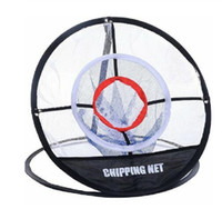 Wholesale golf nets resale online - Golf Pop UP Indoor Outdoor Chipping Pitching Cages Mats Practice Easy Net Golf Training Aids Metal Net