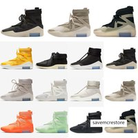 Wholesale boys shoe size 12 resale online - Fear Of God Light Bone Black orange Shoes Men Women FOG Fog Boots Cushion Casual Sneakers Shoes Size
