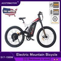 Wholesale lithium battery stocks for sale - Group buy AOSTIRMOTOR Electric Mountain Bike Fat Tire Electric Bicycle Cruiser Al Alloy W EBike V A Lithium Battery US Stock