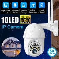 Wholesale home camera alarms resale online - HD P WIFI IP Camera Wireless Outdoor CCTV PTZ Smart Home Security IR Cam Automatic Tracking Alarm LED Waterproof Phone Remote Monitor
