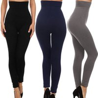 Wholesale velvet yoga pant resale online - High Waist Leggings Fitness Thick Velvet Sexy Women Pants Trouser Compression Control Gym Skinny Seamless Sports Yoga Pants