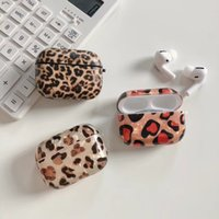 farbpro-druck groihandel-AirPods Fall Top-Qualität High Street Elements Leopard Printed New Tendenz Extravagant AirPods 02.01 / Pro Kopfhörer Shell 2-Color