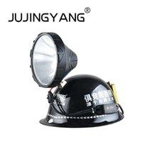 Wholesale hid headlamps for sale - Group buy High quality ABS xenon headlights aluminum helmet headlight strong light long range IP65 waterproof HID headlamp