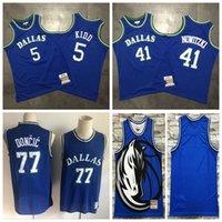 Wholesale dirk nowitzki jerseys resale online - 41 Dirk Nowitzki Dallas Mavericks Men Finished Swingman Basketball Jersey Navy Statement Edition